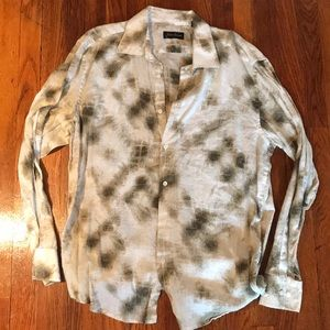 Other - Men's button down shirt white/green